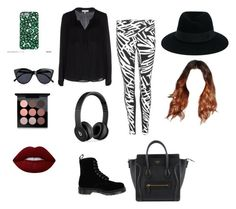 """Today's outfit"" by anoai2002 ❤ liked on Polyvore featuring NIKE, Milly, Dr. Martens, Beats by Dr. Dre, Le Specs, Maison Michel, MAC Cosmetics and Lime Crime"