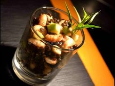 Salade de Lentilles Beluga aux Crevettes & Pommes - L'Eau à la Bouche