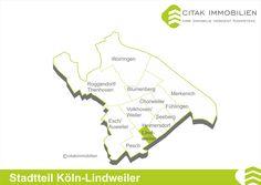 Stadtteil Köln-Lindweiler Der kleinste Stadtteil im Bezirk Chorweiler liegt im Süden und grenzt an die Nachbarstadtteile Heimersdorf im Osten, Pesch im Westen und Volkhoven/Weiler im Norden. Im Süden wird Lindweiler vom Nachbarbezirk Nippes, durch den Stadtteil Longerich begrenzt.