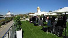 #boda en #restaurante Muelle 21 #sevilla Dolores Park, Sidewalk, Travel, Boat Dock, Restaurants, Party, Viajes, Side Walkway, Walkway