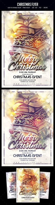 Christmas Flyer - Clubs & Parties Events | Download: https://graphicriver.net/item/christmas-flyer/18961717?ref=sinzo