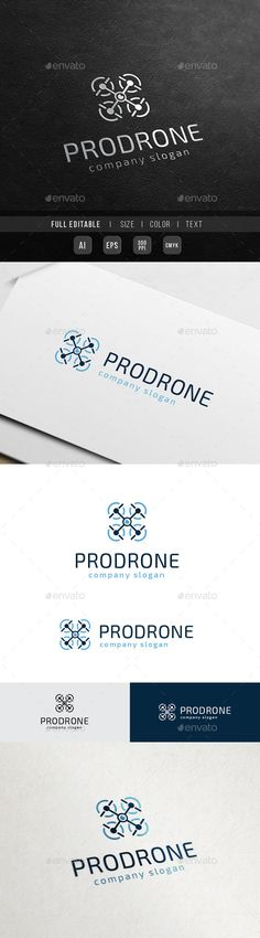 Pro Drone Drone Camera - Logo Design Template Vector #logotype Download it here: http://graphicriver.net/item/pro-drone-drone-camera/10563766?s_rank=1324?ref=nexion