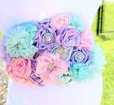 Faja maternidad pastel arco iris rosa menta lavanda