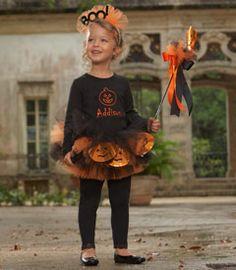 orange pumpkin tutu & headband set