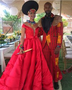 Image may contain: 2 people, people standing African Traditional Wedding, Nice Dresses, Formal Dresses, Yes To The Dress, African Fashion Dresses, Wedding Wear, Designer Wedding Dresses, Beautiful People, Head Pieces