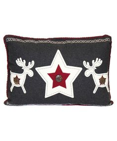 Red wool blend applique cushion Sale - Kilburn And Scott Sale