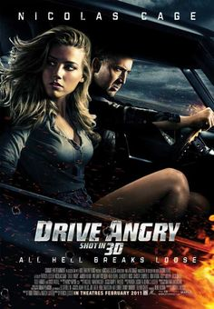 Drive Angry 3D 27x40 Movie Poster (2011)