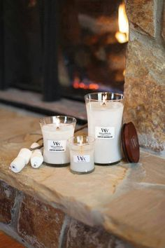 Wood Wick Candles Campfire Marshmallow.