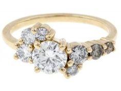 Custom Clustered Diamond Ring With Prongs - Bario Neal - Philadelphia