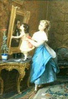 Goodnight Papa, Constant Joseph Brochart (1816 – 1899, French) , I AM A CHILD,  children in art history -blog
