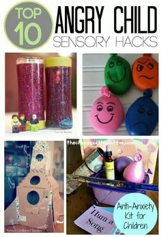 These are the Top 10 Angry Child Sensory Hacks. They are perfect for a calming corner and sensory tools basket to help children cope with anger and frustration Sensory Tools, Sensory Play, Sensory Diet, Sensory Issues, Diy Sensory Toys, Social Work, Social Skills, Angry Child, Therapy Tools