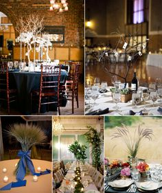 Tall Plant centerpieces
