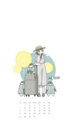 Cute Cartoon Drawings, Cartoon Girl Drawing, Cute Kawaii Drawings, Korean Illustration, Cute Illustration, Character Illustration, Cute Pastel Wallpaper, Calendar Wallpaper, Dibujos Cute