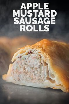 A good sausage roll is a beautiful thing and this apple and mustard sausage roll is stunning. A perfectly cooked filling wrapped in a perfect homemade shortcrust pastry. Best Sausage Roll Recipe, Homemade Sausage Rolls, Best Pork Recipe, Cooked Pork Recipes, Sausage Recipes, Pastry Recipes, Cooking Recipes, Pie Recipes, Turnover Recipes