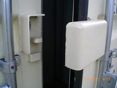 SHIPPING CONTAINER PUCK Lock Box & Fitted Lock, Very Heavy