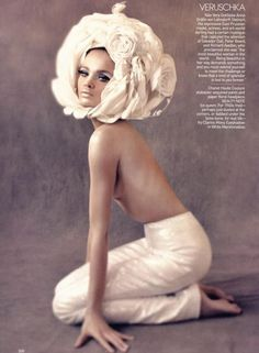 The Great Pretender, American VOGUE, May 2009  makeup by Pat McGrath