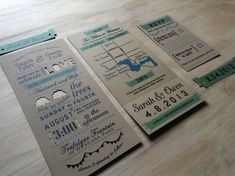 Modern Unique Wedding Invitation  Hipster Invitation by TheFindSac - etsy