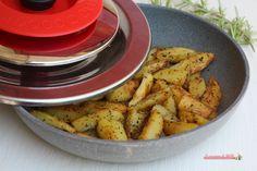 Patate con Magic Cooker cotte in padella a bassa temperatura, senza schizzi e cattivi odori, croccanti come quelle cotte in forno