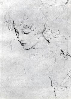 """davidfincherings: """"Polly Barnard or The Study for Carnation, Lily, Lily, Rose (ca. 1885) by John Singer Sargent """""""