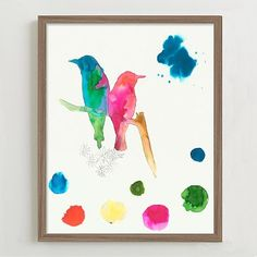 Framed Print - Bird Sketches # 1 #westelm - Simple, efficient, and easy to create in any colors