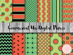 Watermelon Digital Paper Fruits digital paper by MagicalStudio