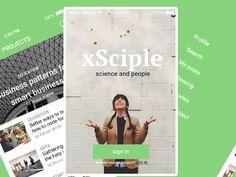 UI app design - xSciple by Sergiu Naslau App Ui Design, Coding, Science, Education, Flag, Teaching, Science Comics, Onderwijs, Learning
