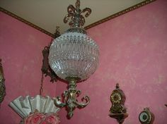 vintage Hollywood regency glass light fixture by pinkwilly506, $279.00