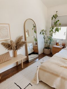 our master bedroom video tour (with links to everything) – almost makes perfect - decorating a new home Room Design Bedroom, Boho Bedroom Decor, Room Ideas Bedroom, Long Bedroom Ideas, Bedroom Inspo, Airy Bedroom, Boho Decor, Bedroom Styles, Boho Bed Room