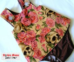Resting in Roses Skull Dress for Infant & Toddler. Your little Rockin Princess is sure to love this adorable dress. It's soft, light and easy for her to move around in. handmade by Rockin Mama Baby Gear