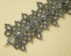 Anastasija , needle tatting bracelet pattern
