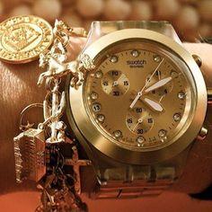 ¿Sabes cuál es el reloj más dorado de Swatch?