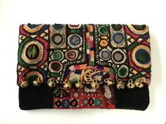 Poppy Clutch Handcrafted from vintage Indian textiles.