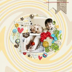Page sample of Ordinary Day | Collection  by Akizo Designs (Digital Scrapbooking layout)