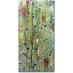 Sylvie Demers 'In Vitro' Gallery Wrapped Canvas Art ($58) ❤ liked on Polyvore featuring home, home decor, wall art, backgrounds, art, abstract painting, abstract canvas wall art, vertical paintings, vertical canvas wall art and giclee painting