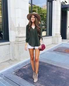 blouse shorts. @roressclothes closet ideas #women fashion outfit #clothing style apparel