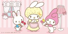 Sanrio: My Melody:) My Melody Sanrio, Hello Kitty My Melody, My Melody Wallpaper, Kawaii Wallpaper, Im Falling In Love, Sanrio Characters, Little Twin Stars, Girl Day, Betty Boop