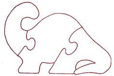 Dinosaur Track Template | Dinosaur Tracing