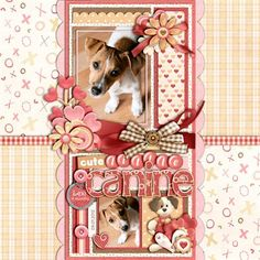 pet scrapbooking page with their name tag to remember them plus best memory birth/buy date and left/missing or pastaway date
