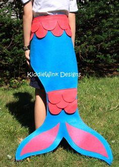 Mermaid costume - mermaid tail & crown for toddlers and girls. $38.00, via Etsy.