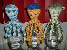 Deze 3 inktvisjes zijn gemaakt door Carin van Kooi.