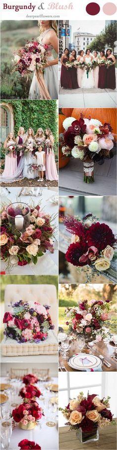 Blush and Burgundy Fall Wedding Ideas / www.deerpearlflow...