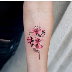 BeautifulDelicate Watercolor Cherry Blossom Forearm Tattoo Ideas for Women - ide. - BeautifulDelicate Watercolor Cherry Blossom Forearm Tattoo Ideas for Women – ideas delicadas del - Mini Tattoos, Trendy Tattoos, Small Tattoos, Cool Tattoos, Tatoos, Floral Tattoo Design, Flower Tattoo Designs, Tattoo Designs For Women, Tattoos For Women