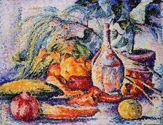 The Athenaeum - Still Life with Bottle of Wind (Henri Edmond Cross - )