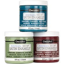 DecoArt's Americana Decor Satin Enamels provide a durable, satin finish for home decor projects.