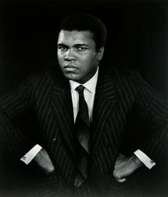 Floats like a butterfly and stings like a bee...Muhammad Ali - Photo by Yousuf Karsh