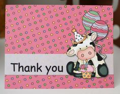 COW Birthday Party THANK YOU Cards Barn Yard by bcpaperdesigns #cowparty #cowbirthday #partyideas