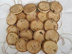 DIY Wood Ornament Wood Ornament Wood Discs by DivineRusticCreation, $20.00