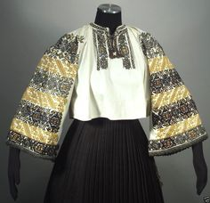 Vintage Romanian Embroidered Peasant Blouse Linen Folk Costume Ethnic Fashion | eBay