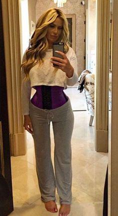 1c6a337a6d9 Kim Zolciak shows off her tiny waist with this waist trainer! Kim Zolciak