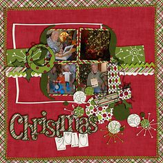 Christmas layout with 4 pics